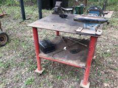 Shop Table on Wheels w/Anvil