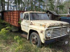 500 Ford S/A Grain Truck w/Steel Box & Hoist VIN F50CCE83877