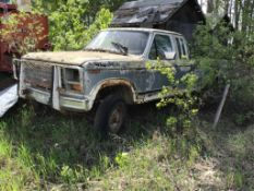 1981 Ford F250 Ext/Cab 4x4 L/B Pickup VIN 1FTGX26E9BKA54249 ST Shift, Salvage Only