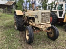 Cockshutt 570 2wd Diesel Tractor Wheel Weights, 540PTO, 18.4-34rr. Tractor Runs. Has Antifreeze