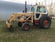1370 Case 2wd Tractor w/Ezee-on FEL, Bucket & Blae 4440hrs, 1000PTO, 20.8-38rr, 11.00-10fr, 12spd