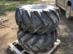 (2) 215L-16.1 Tires on 8-Hole Rims
