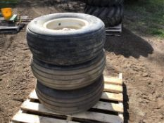 Set of 3 Implement Tires on Rims