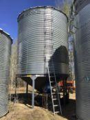 Westeel Rosco 2400bu 14' x 6-Ring Hopper Bottom Grain Bin. OPI Cable, Aeration, Ladder, & Base. sn