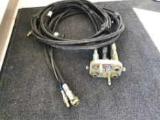 Hyd Quick Coupler Adapter Unit for STR Cut Header c/w Hoses & Wires. Lot #s' 16 & 17 Selling on