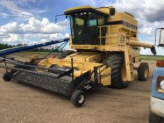 1994 New Holland TR97 Combine 30.5L-32fr, 14.9-24rr, 2147 Threshing hrs, 3005 Eng hrs, A/C Cab, 13Ft