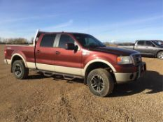 2007 Ford F150 King Ranch Crew Cab 4x4 Pickup VIN 1FTPW14VX7KB20573 5.4L Eng, A/T (Eng not in