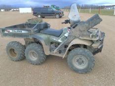 2004 Polaris Sportsman 500 6x6 ATV VIN 4XACL50A94D162581 w/Gun Boot 1195 miles, 347hrs (Consigned by