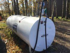 2019 1000g Dual Comp Fuel Tank w/12V Pump, Meter & Nozzle. Float gauge.