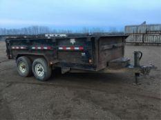 2008 PJ T/A 14Ft Dump Trailer VIN 4P5D7142281122630 12V Hyd Lift, 7000lb axles