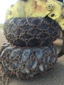 Set of (2)-30.5L-32 Skidder Tires w/Chains