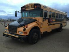 2007 Blubird 54-pass Bus VIN 1BAKCCKA97F240639 Cat Diesel Eng, A/T, Air Brakes, 262,000km