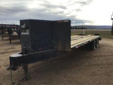 2011 OASIS Tandem 28 ft Dually Deck/Over Trailer VIN 2SLFCA293BR004136, Pintle hitch, 10,000lb