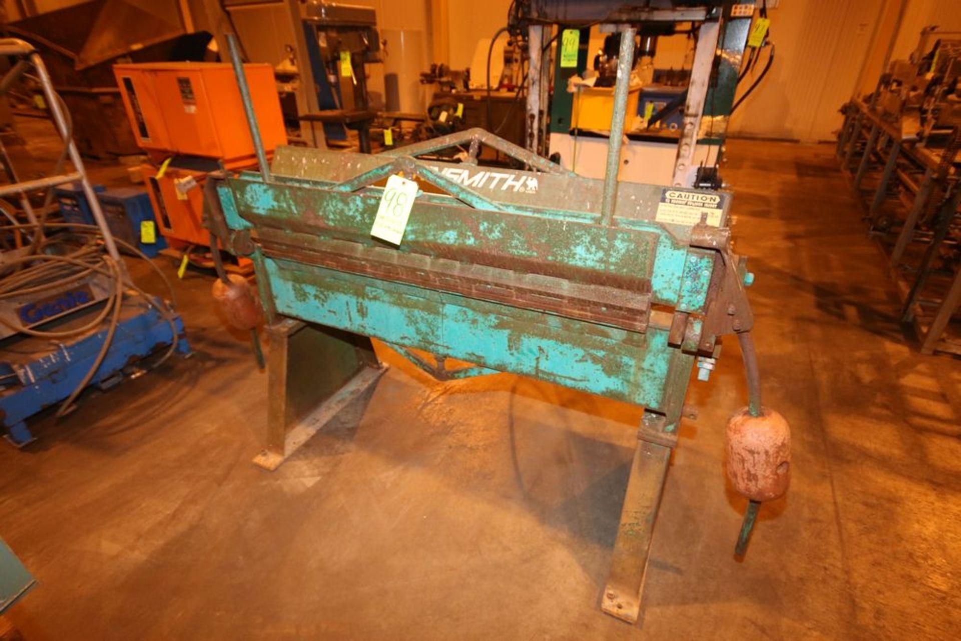 """Lot 98 - Tennsmith Bending Machine, M/N HBU 4812, S/N 16681, Capacity: 22 Gauge Steel, with Aprox. 46"""" W"""