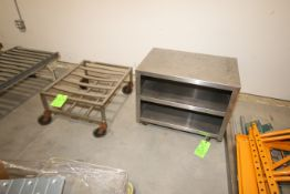 Assorted S/S Fixtures, with S/S Table, 3-Shelf Portable S/S Unit, with (1) Portable S/S Rack (