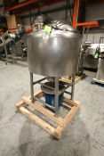 Aprox. 100 Gal. S/S Cylindrical Likwifier, with 10/20 hp Bottom Mounted Motor, Tank Dims.: Aprox.