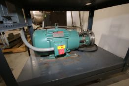 Tri-Flo 10 hp Centrifugal Pump, M/N C216MDG21T, S/N 202874-01, with 3,500 RPM Motor, Mounted on