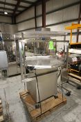 "Inlne Filling Systems S/S Accumulation Table, S/N 330000, with Aprox. 45"" Dia. Turn Table,"
