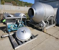 "Blentech S/S Vacuum Tumbler, Model VT1-3000-S, S/N 970676 with Aprox. 8 ft. L x 67"" W Tunnel"