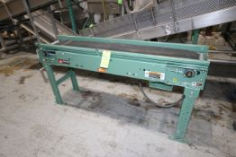 Roach Straight Section of Power Conveyor, with 0.5 hp Baldor Drive, 1725 RPM, 230/460 Volts, Overall