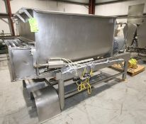 Rietz S/S Twin Shaft Ribbon Blender, M/N RS-23-K5405-6, S/N RS-720844-C, with (2) Baldor 7.5 hp