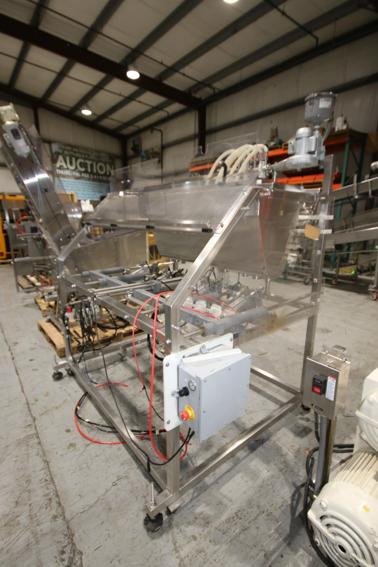 Lot 49 - Inline Filling Systems 6-Head Piston Filler, with (6) Additional Vancant Filling Head Holsters, with