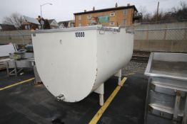 Creamery Package 1,000 Gal. S/S Jacketed Horizontal Milk Tank, M/N R10000, S/N 11218, with