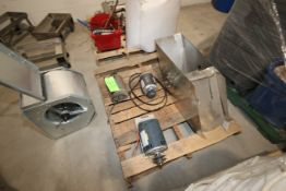 Pallet of (3) Motors & (1) S/S Feed Chute (LOCATED IN YOUNGSTOWN, OH) (Rigging, Handling & Site