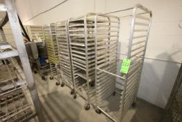 S/S Pan Racks, with Some Pans, Mounted on Portable Casters (LOCATED IN YOUNGSTOWN, OH) (Rigging,