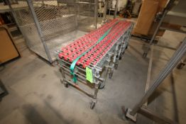 S/S Skate Conveyor, with Adjustable Frame, Mounted on S/S Portable Frame (LOCATED IN YOUNGSTOWN, OH)