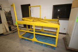"""Steel Platform with Stairs & Hand Rails, Overall Dims.: Aprox. 81"""" L x 52-1/2"""" W x 37"""" H (LOCATED IN"""
