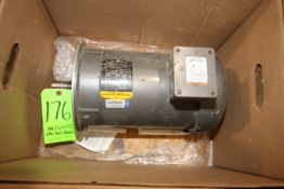 Baldor 5 hp Motor, 3450 RPM, 208-230/460 Volts (LOCATED IN YOUNGSTOWN, OH) (Rigging, Handling & Site