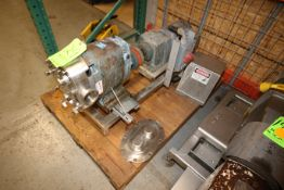 "5 hp Positive Displacement Pump, with Aprox. 3"" Clamp Type Inlet/Outlet, Includes Safety Switch,"
