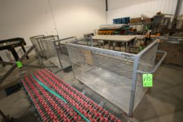 """Portable Cage Carts, Overall Dims.: Aprox. 66"""" L x 32"""" W x 45"""" H (LOCATED IN YOUNGSTOWN, OH) ("""
