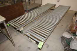 """Straight Sections of Roller Conveyor, Overall Dims.: Aprox. 119"""" L x 21-1/2"""" W (LOCATED IN"""