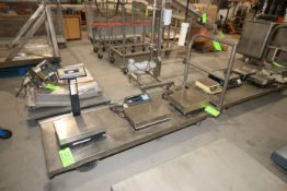 """S/S Push Carts, Overall Dims.: Aprox. 74"""" L x 27"""" (LOCATED IN YOUNGSTOWN, OH) (Rigging, Handling &"""
