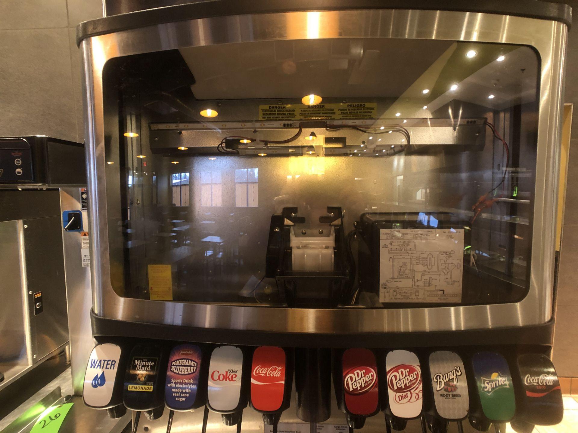 Manitowoc Beverage Systems 10-Valve Soft Drink Dispenser, Model SV250, S/N 610202454, with Hoshizaki - Image 6 of 10