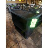 (2) Carlisle Black Push Carts with Racks