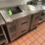 "Randell Refrigerator / Sandwich Prep Table, Model 9030K-7, S/N W1052641-1, 48"" W x 33"" D36"" H"