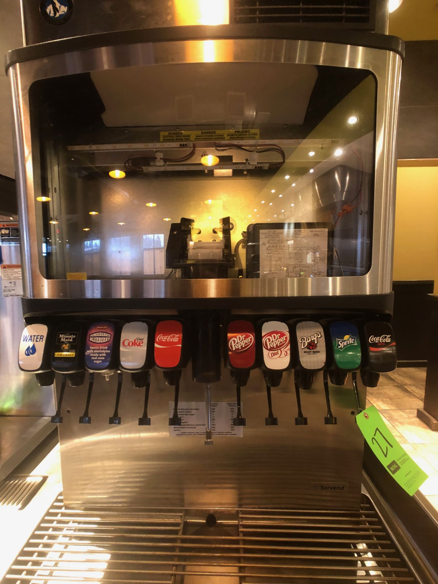 Manitowoc Beverage Systems 10-Valve Soft Drink Dispenser, Model SV250, S/N 610202454, with Hoshizaki - Image 2 of 10