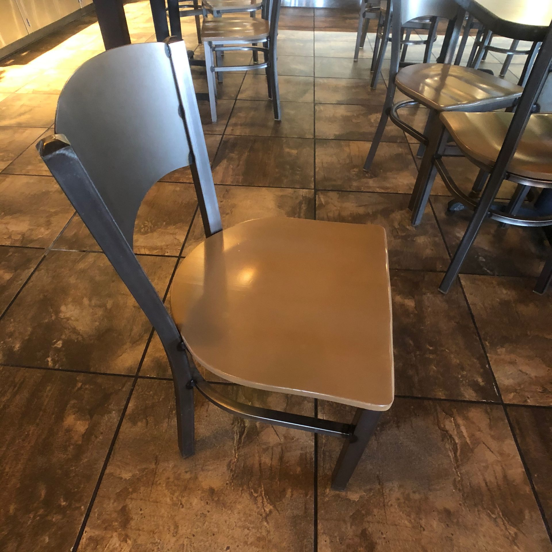 """(5) 2-Person Tables with (10) Walsh Simmons Seating Chairs, Approx. 2'6"""" L x 24"""" W - Image 5 of 5"""