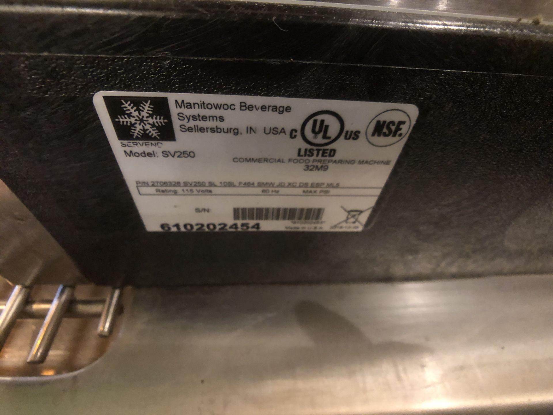 Manitowoc Beverage Systems 10-Valve Soft Drink Dispenser, Model SV250, S/N 610202454, with Hoshizaki - Image 3 of 10