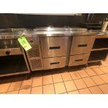 "Randell Refrigerator / Sandwich Prep Table, Model 9030K-7, S/N W953299-1, 48"" W x 33"" D36"" H"