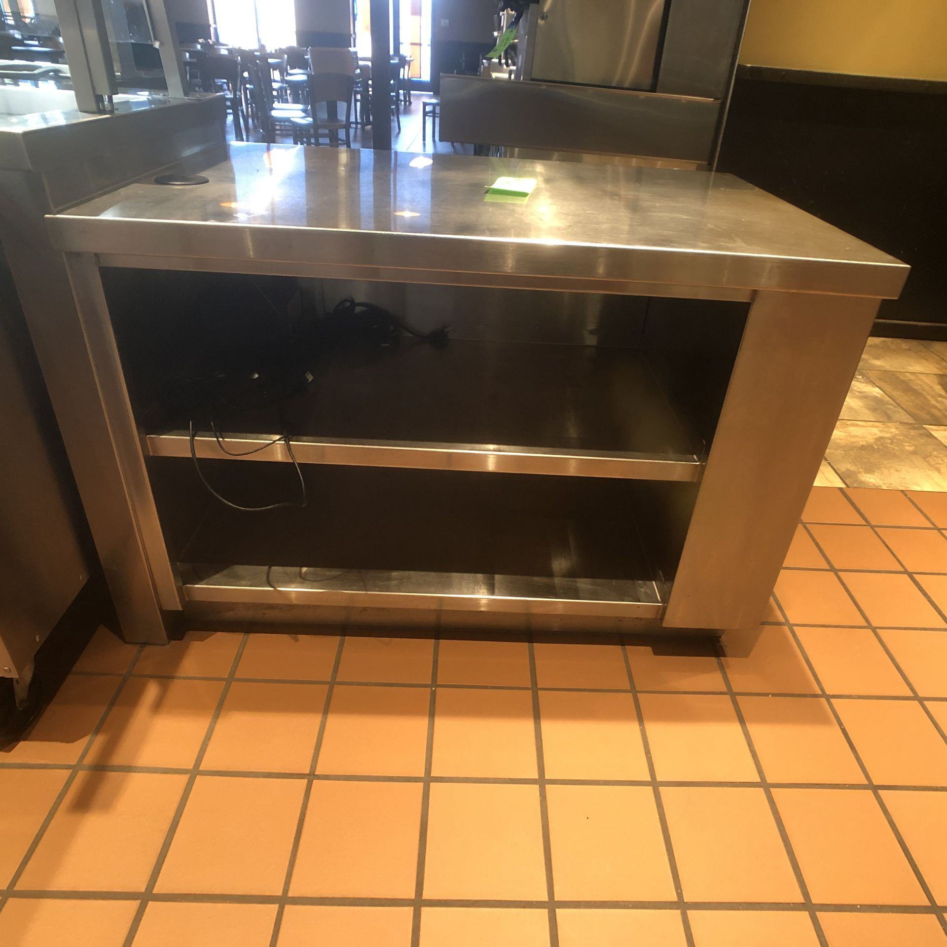"""Food Service Equipment Approx. 4' L x 2'8"""" W S/S Countertop with S/S Shelves, 120/208 V - Image 2 of 5"""