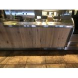 """Approx. 6' W x 34"""" W S/S Countertop Register Station with S/S Shelves (NOTE: Does Not Include Cash"""