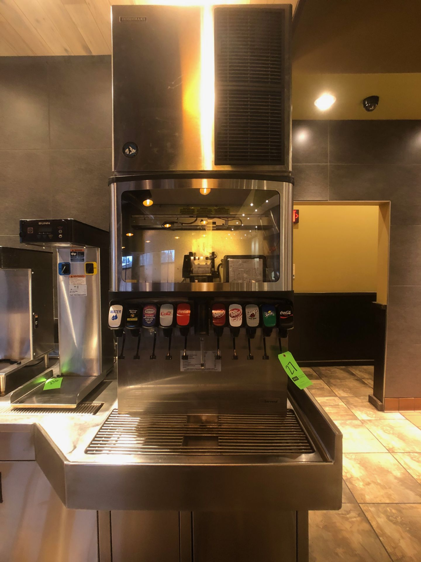 Manitowoc Beverage Systems 10-Valve Soft Drink Dispenser, Model SV250, S/N 610202454, with Hoshizaki