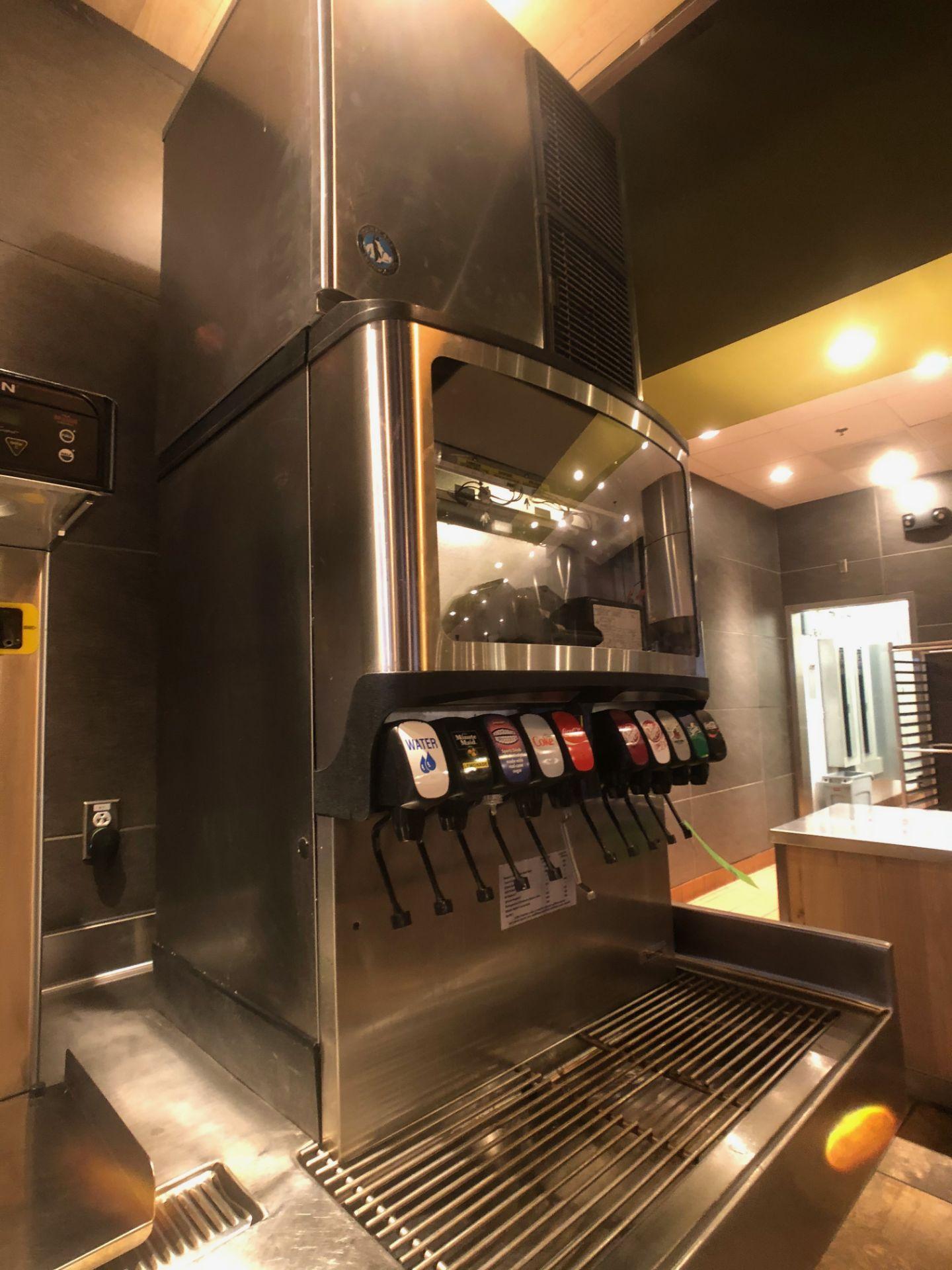 Manitowoc Beverage Systems 10-Valve Soft Drink Dispenser, Model SV250, S/N 610202454, with Hoshizaki - Image 4 of 10