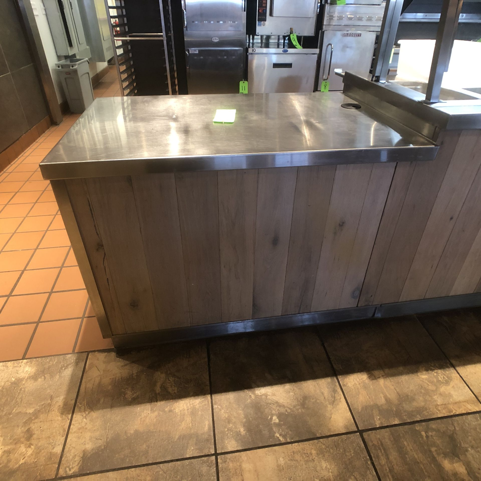 """Food Service Equipment Approx. 4' L x 2'8"""" W S/S Countertop with S/S Shelves, 120/208 V"""
