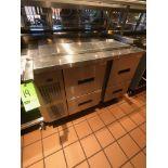 "Randell Refrigerator / Sandwich Prep Table, Model 9030K-7, S/N W1035669-1, 48"" W x 33"" D36"" H"
