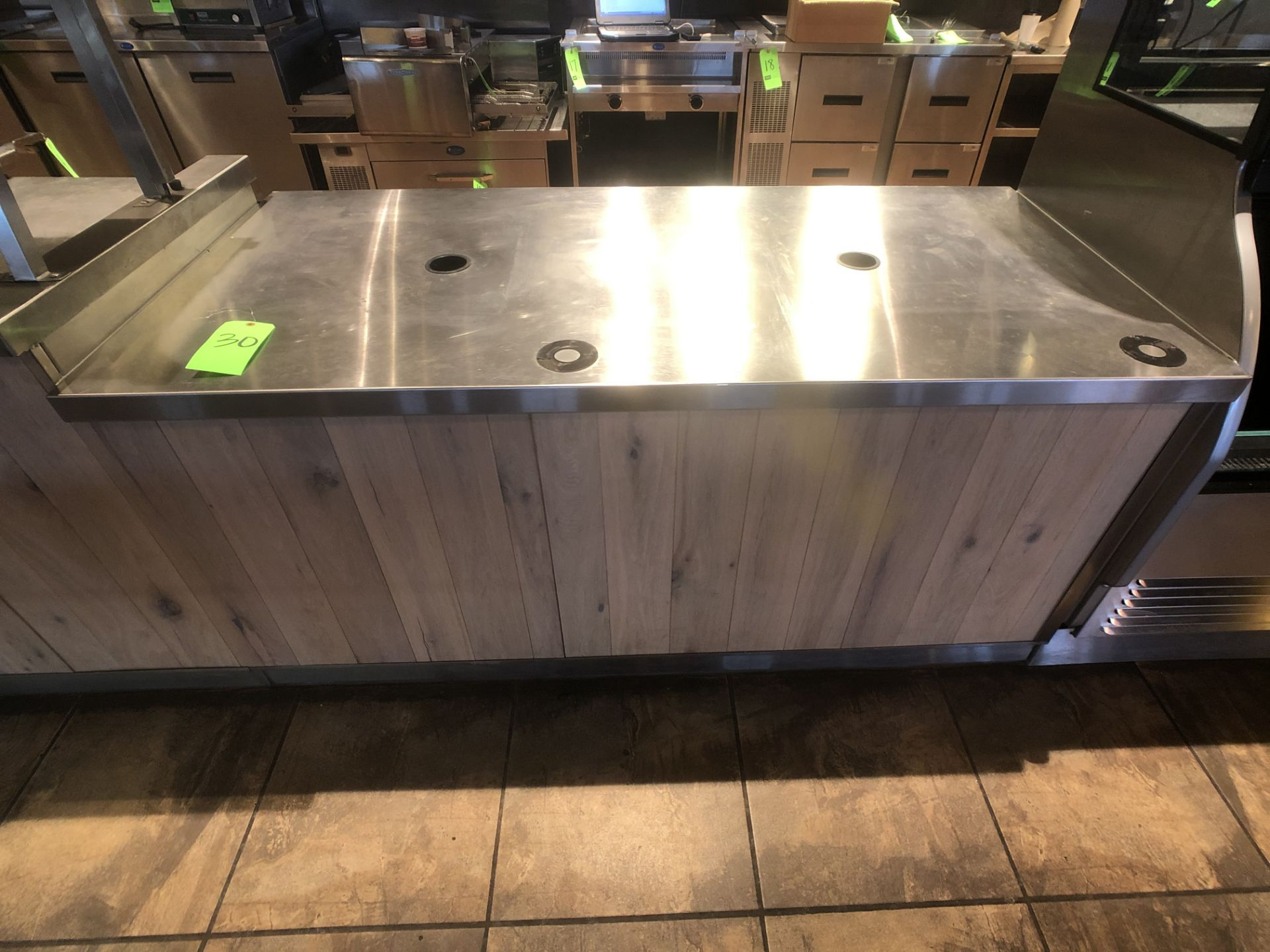 """Approx. 6' W x 34"""" W S/S Countertop Register Station with S/S Shelves (NOTE: Does Not Include Cash - Image 2 of 6"""